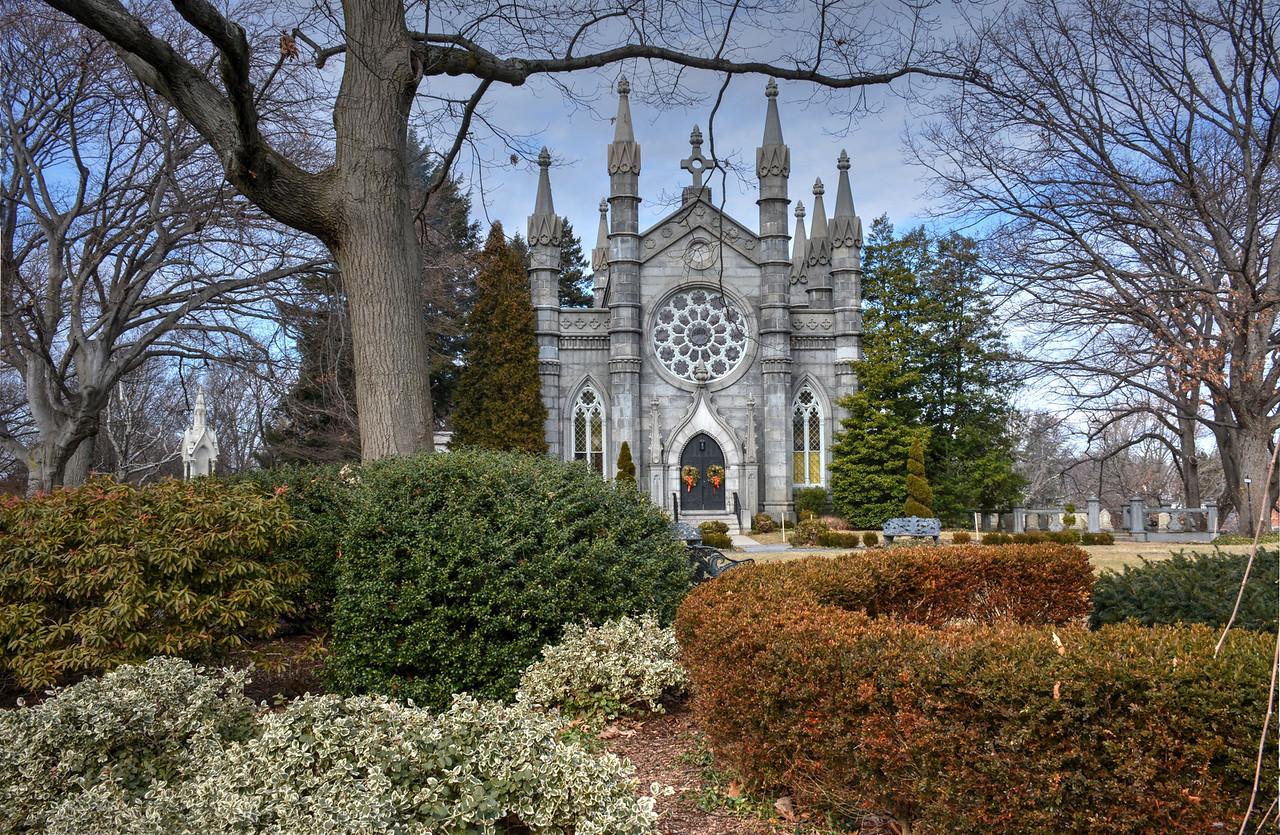 Bigelow Chapel at Mt Auburn Cemetery Cambridge Ma.