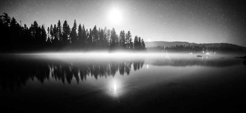 Midnight on Shaver Lake