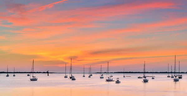 _N149778 Sailboats on the Merrimac at Dawn ~ Softness