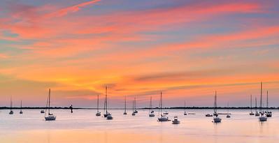 _N149778 Sailboats on the Merrimac at Dawn ~ Softness