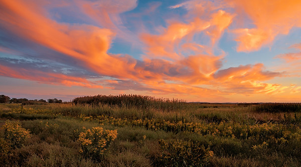 _N122198 Sunset over the Marsh ~ September in Salisbury MA