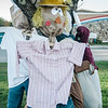 Crocker Elementary teacher Debbie Jeffries is organizing an attempt at the school to break the Guinness World Record for the largest gathering of scarecrows in one location. Completed scarecrows can be dropped off between 8 a.m. and 9:30 p.m. Saturday at Crocker. SENTINEL & ENTERPRISE / Ashley Green