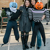 Crocker Elementary teacher Debbie Jeffries is organizing an attempt at the school to break the Guinness World Record for the largest gathering of scarecrows in one location. Completed scarecrows can be dropped off between 8 a.m. and 9:30 p.m. Saturday at Crocker. First grade teacher Kelly Haynes drops off her scarecrows, joined by Jeffries. SENTINEL & ENTERPRISE / Ashley Green