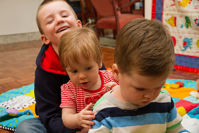 Scarlett, James and Darcy Playing - Ken's 70th Birthday (March 2013)