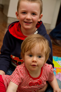 Scarlett and James Playing - Ken's 70th Birthday (March 2013)