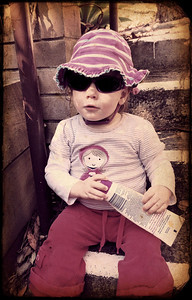 Little Miss Cool Heading Out to the Park - August 2013 -18 Months