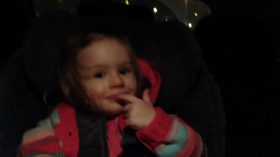 """Scarlett speaking age 21 months - """"The moon is up in the sky!"""""""