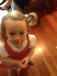 Scarlett saying 'Sophie' aka 'Dopey' - September 2013: Age 19 Months