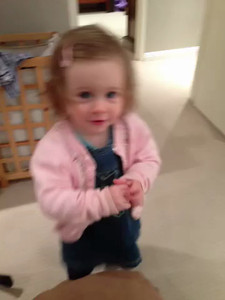 Scarlett saying 'Sophie' at age 18 months