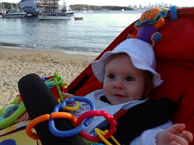 Scarlett at Watson's Bay - 6 Months Old