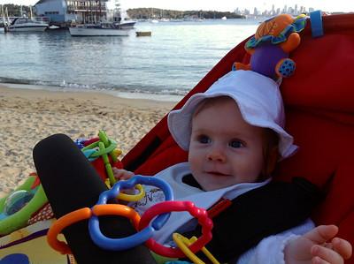 Scarlett at Watson's Bay - 6 Months Old