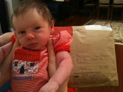 Scarlett's first package! Thanks Peatlings!