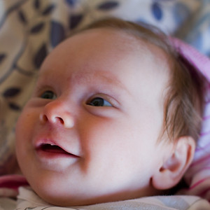 Scarlet Amelie and Her Tricky Smiles - April 2012 (2 Months and 7 Days Old)