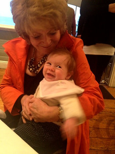 Scarlett with Nanna at David's 35th birthday lunch - Pilu, Freshwater June 16, 2012