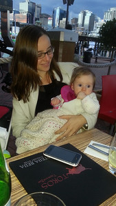 Margaret and Scarlett in Darling Harbour - August 2012 (5.5 months old)