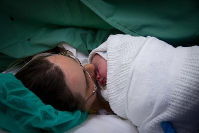 Mummy's First Kiss of Baby Scarlett