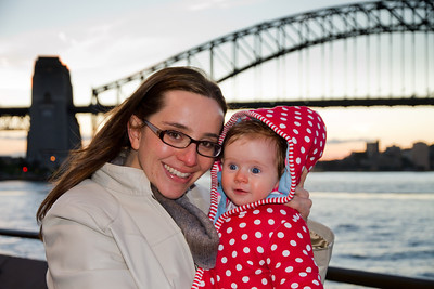 Scarlett and Emmy at Sydney Harbour - View From Opera House