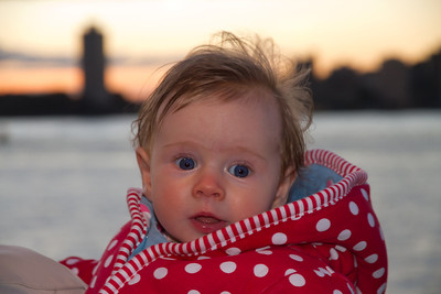 Scarlett at Sydney Harbour - View From Opera House (4.5 Months Old)