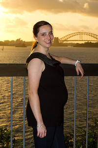 Margaret at Bradley's Head, Sydney - Sunset on the 29th December 2011 (34 Weeks Pregnant)