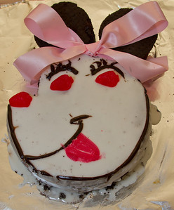 The Mini-Mouse Cake - Margaret Made Scarlett Her First Cake After Her Reaction to Mini-Mouse Ears at Disney Land