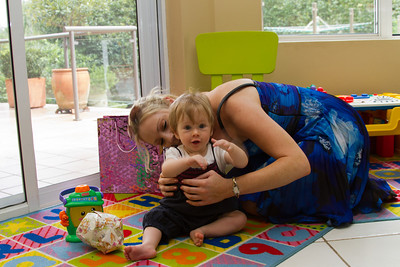 Scarlett Playing With Sophie and Her New Toy - Scarlett's First Birthday Party (24th February 2013)