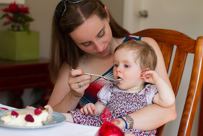 Scarlett's First Christmas  2012 - 9.5 Months Old (First Desert - Semi Fredo and Chocolate Pavlova Made by Nanna)