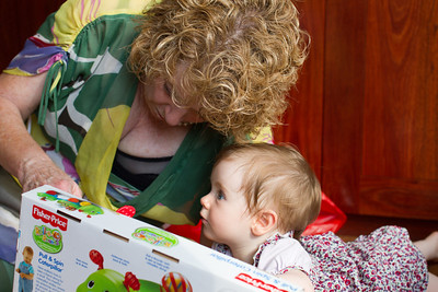 Scarlett's First Christmas  2012 - 9.5 Months Old (Openning Nanna's First Christmas Present)