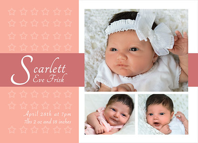 Scarlett's Baby Announcements