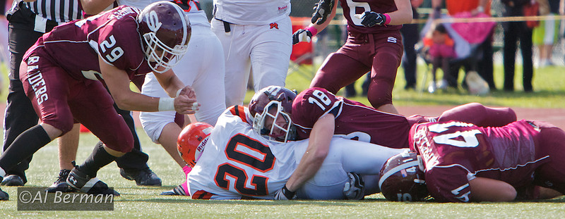 Scarsdale High School Varsity Football team defeats Mamaroneck to enter the playoffs for the second year in a row. 11/22/11