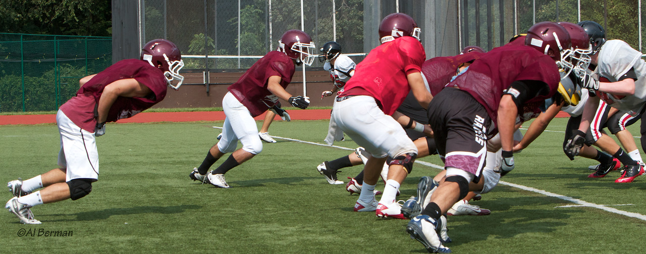 Scarsdale Varsity & JV football scrimmage against Rye