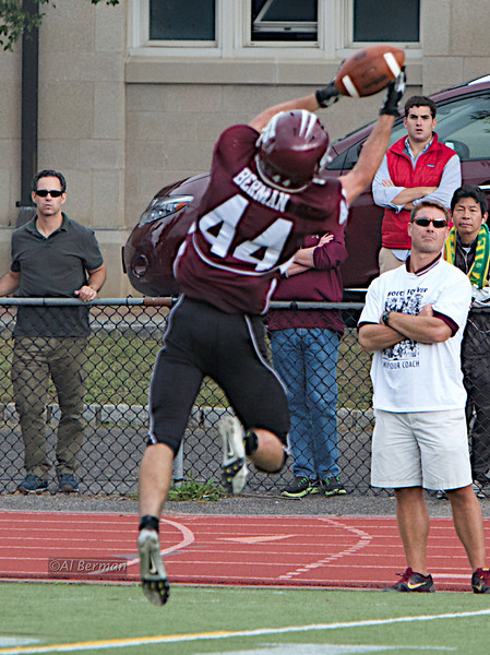Eric Berman reception as Scarsdale High School defeats White Plains in overtime.