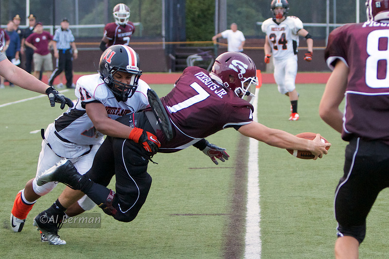 Andrew Verboys with the winning touchdown in overtime against White Plains.
