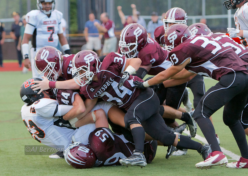 Scarsdale stops two-point conversion attempt by White Plains securing victory in overtime.