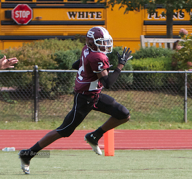 "The ""Stop White Plains"" touchdown by Patrick Clarke."