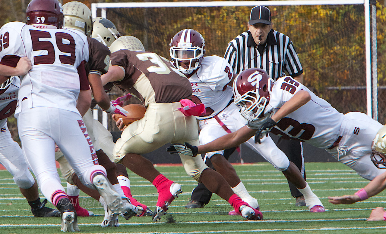 Scarsdale Football Raiders defeat Clarkstown South 27-6 on Oct 27, 2012