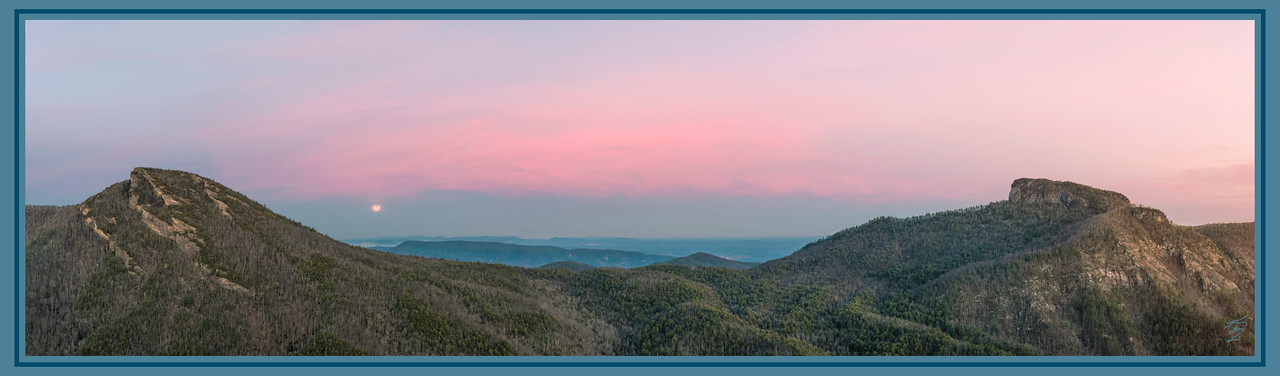 Snow Moon at Linville Gorge