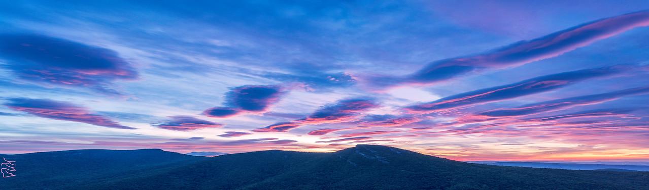 Sunrise at Linville Gorge