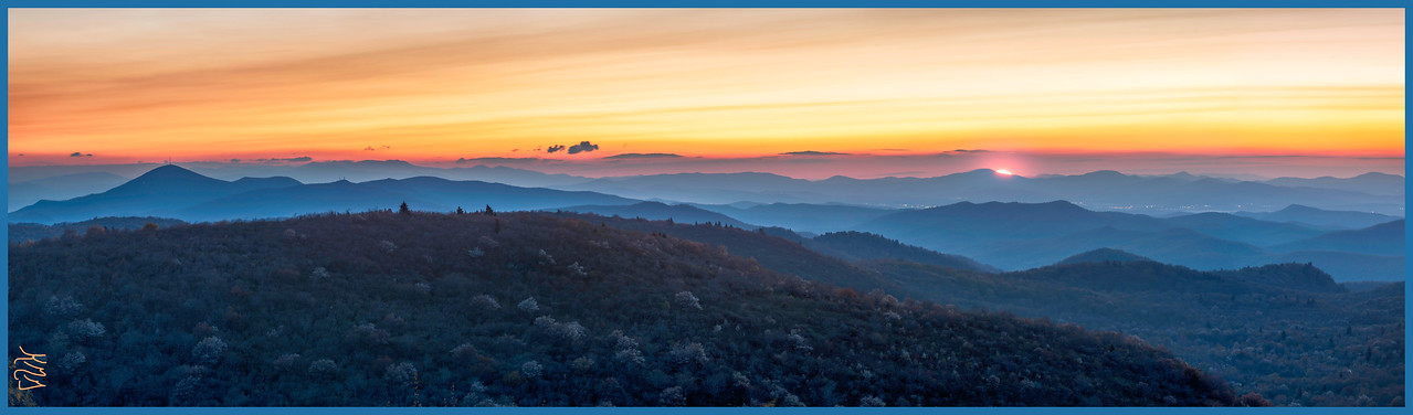 Morning from Black Balsam Overlook on the Blue Ridge Parkway