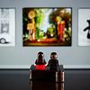 Observing art.