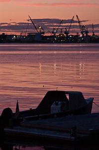 Sundown at BIW