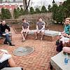 Stuart Gray, assistant professor of politics, teaches class in the ODK Circle.