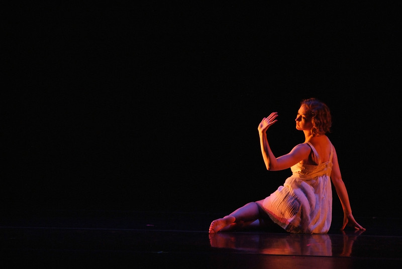 """Katherine Perry '08 performing """"This Macaroni and Cheese Crayon Tastes Like Wax"""" during the Dance Program's 10th anniversary celebration."""