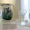 Some of the creamware commemorating George Washington in an ongoing exhibition at the Watson Pavilion.