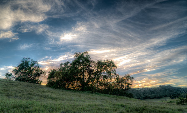 Sunset in Santa Rosa Plateau
