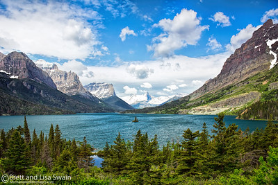St. Mary Lake, Glacier National Park (before the fire of 2015)