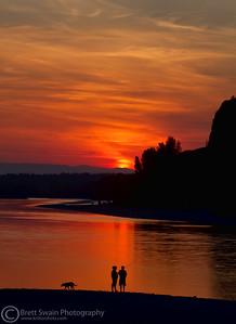 Flathead River Sunset
