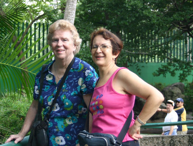 My mother Jean and her Brazilian friend Wilma, a very nice lady who has been traveling with Mom. Behind them you can see my brother Andy and my brother-in-law Gerardo.