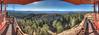 You take photos and try to do the view justice. All I can say is that it was incredible at the top. Worth the hike. 180 deg HDR panorama looking to the West, from  Devil's Head Lookout station.