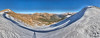This is a panorama from the top of Jones Pass, looking to the east.