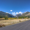 Little snow on the mountains just inside of in Rocky Mountain National Park.